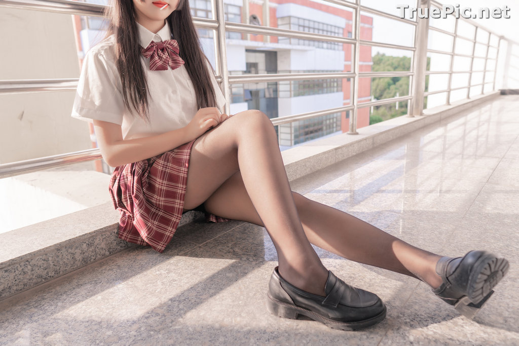 Image [MTCos] 喵糖映画 Vol.023 – Chinese Cute Model – Long Hair JK Girl - TruePic.net - Picture-9