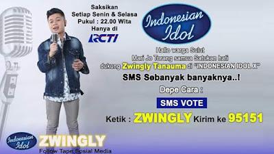 Pemkab Mitra Ajak Warga Dukung Zwingly Tanauma di Indonesian Idol