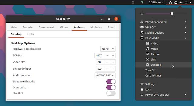 Stream GNOME Shell desktop to Chromecast
