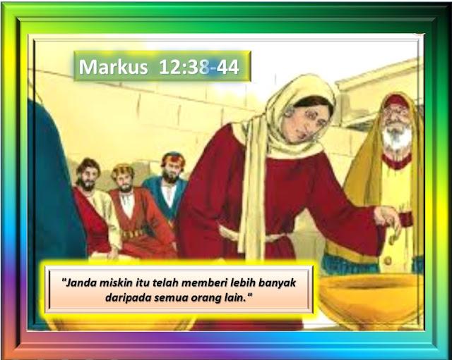 MARKUS 12:38-44