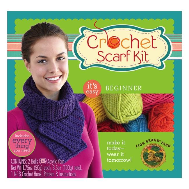 Weekend Kits Blog Lion Brand Crochet Scarf Pattern Yarn Kits