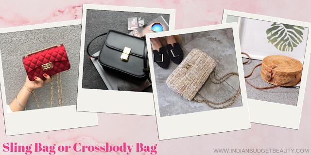 sling bag or crossbody bag