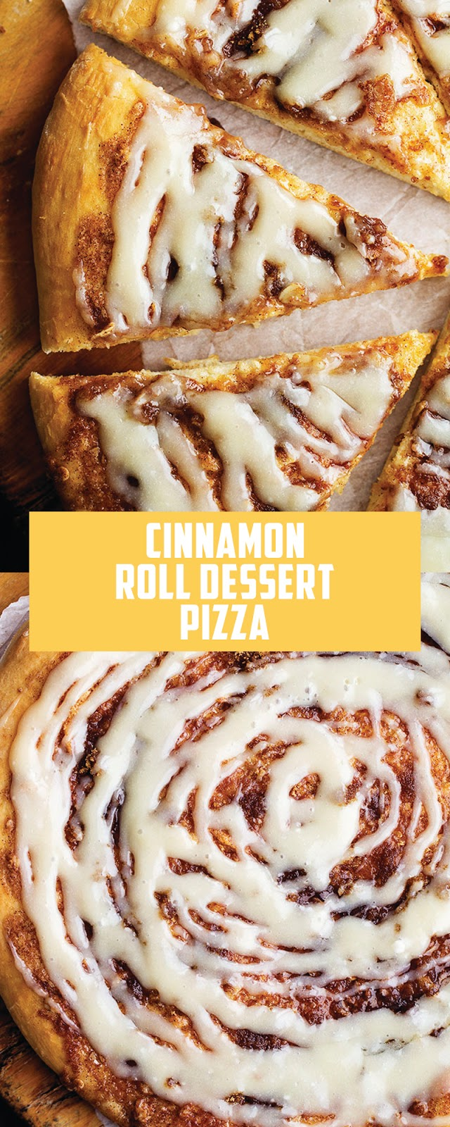 CINNAMON ROLL DESSERT PIZZA