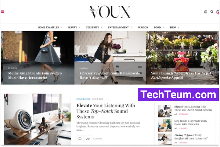 The Voux by Fuel Themes (Themeforest)