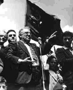 Girolamo Li Causi addresses a rally on the site of the Portella della Ginestra killings