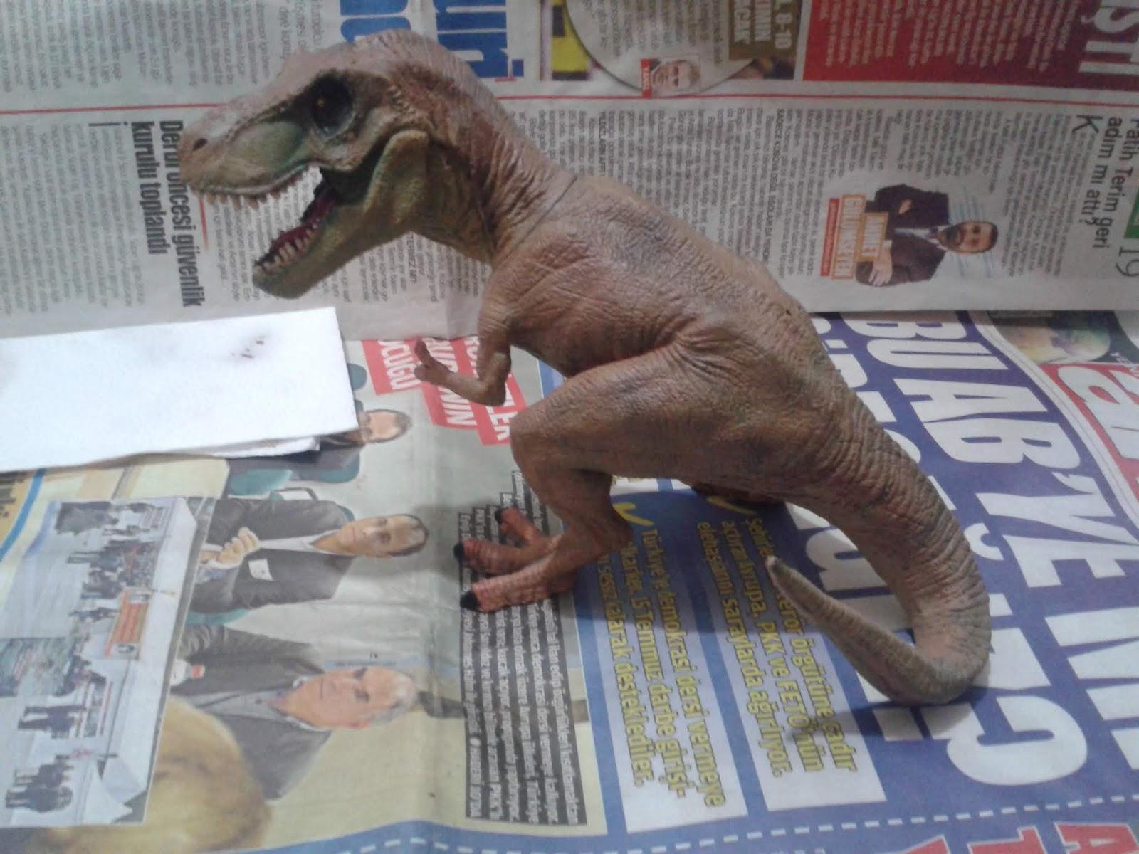 T Rex Figürü Repaint Yeniden Boyama çocukluğa Yolculuk