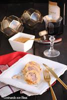 Mini redondo de pollo con salsa de almendras