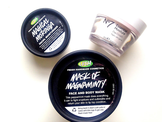 Lush Face Mask, Lush Primer, No7 Moisturiser