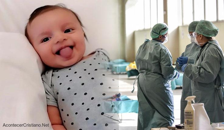 Bebé vence al coronavirus en Italia