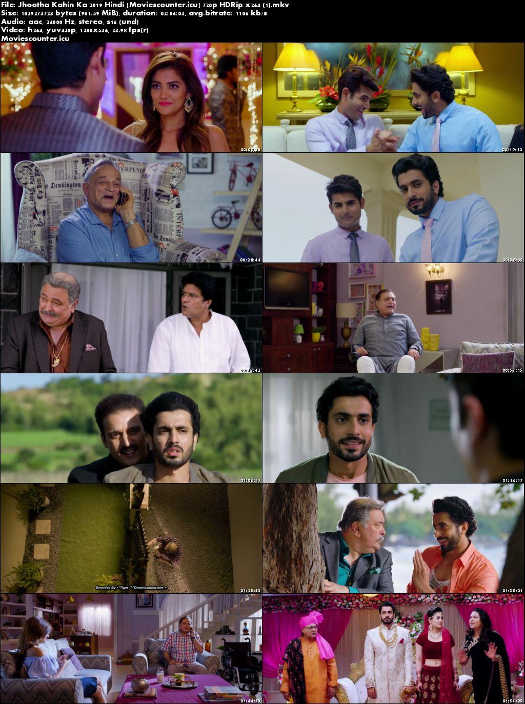 Screen Shots Jhootha Kahin Ka 2019 Hindi HD 300Mb