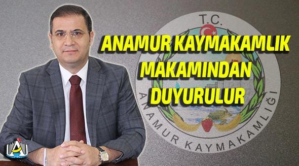 Anamur Haber,Anamur Son Dakika,Anamur Kaymakamı Mehmet Nuri Başaran,