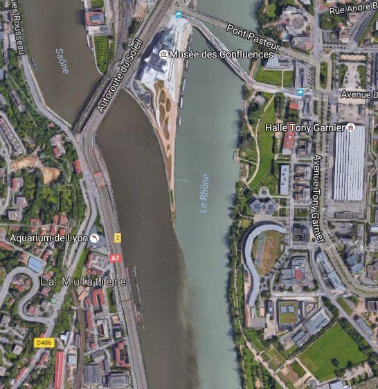 Confluence du Rhône et de la Saône