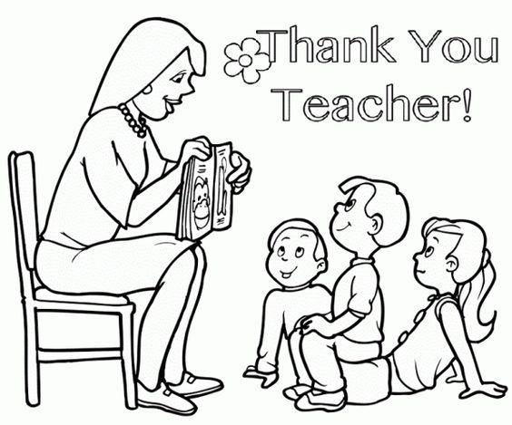 Hình tô cô giáo và học sinh