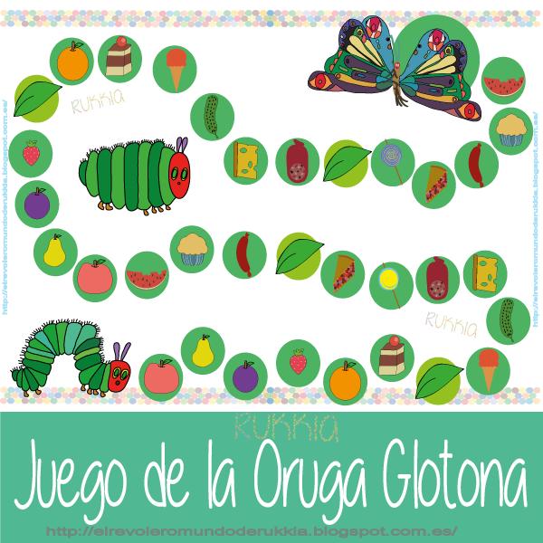 Juego de la Pequeña Oruga Glotona - Mundo de Rukkia