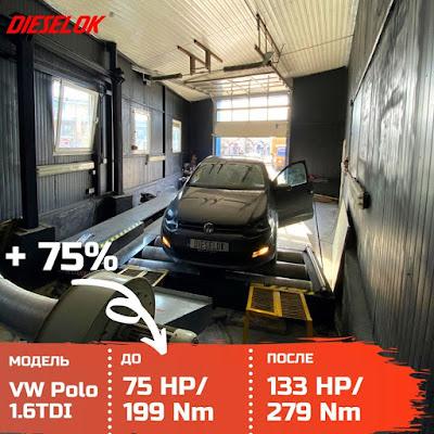 VW Polo 16tdi chiptuning