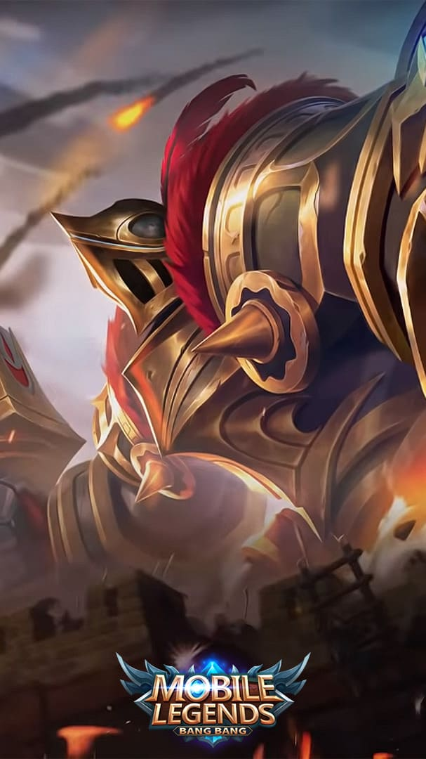 Wallpaper Grock Castle Guard Skin Mobile Legends HD for Android and iOS