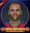 Martin Braithwaite Face Barcelona FC Player - PES 2017