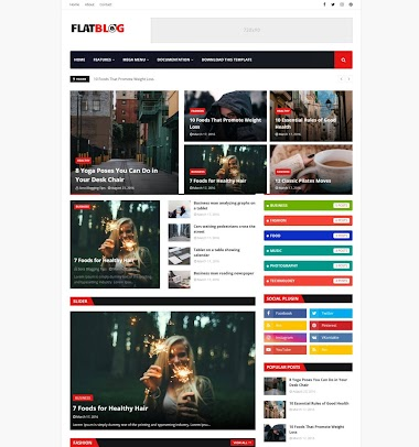 FlatBlog Blogger Template Free Blogger Template  Without Copyright footer Credit