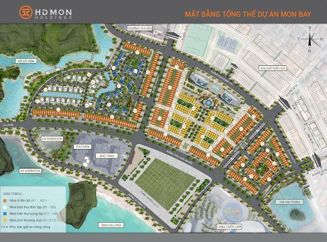 Mặt bằng tổng thể dự án Mon Bay