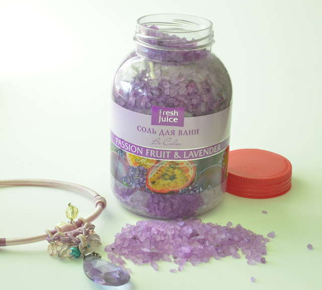 Соль для ванны Fresh Juice Be Calm Passion Fruit and Lavender