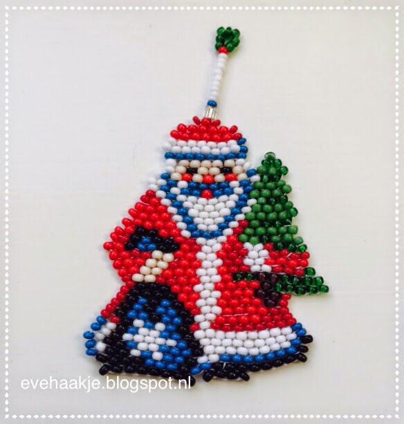 Haken En Kralen Kerstman Voor In De Kerstboom