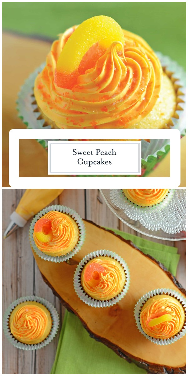 Peach Cupcakes #cupcakerecipes