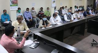 मतगणना के संबंध में अधिकारियों व कर्मचारियों का बैठक आयोजित