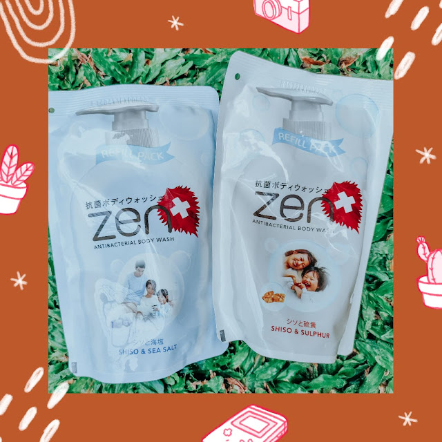 . Zen Body Wash Shiso & Sea Salt dan Zen Body Wash Shiso & Sulphur