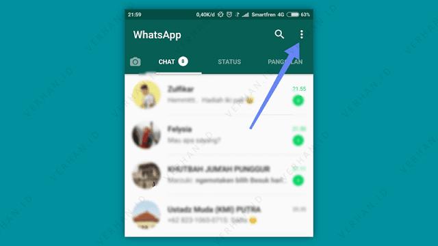 membuka pengaturan whatsapp