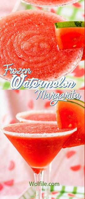 Frozen Watermelon Margarita Recipe #Drink #Summer