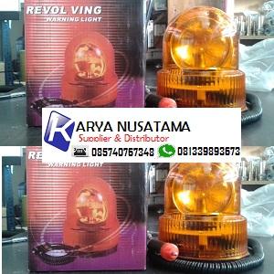 Jual Lampu Mobil Rotary Bulat Kecil Magnet di Lampung
