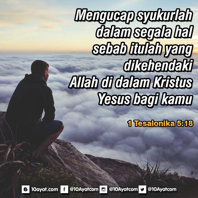 1 Tesalonika 5:18