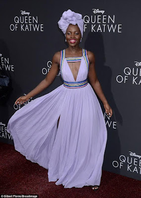 Lupita Nyong'o stuns in plunging lilac gown at a Los Angeles movie premiere (see photos)
