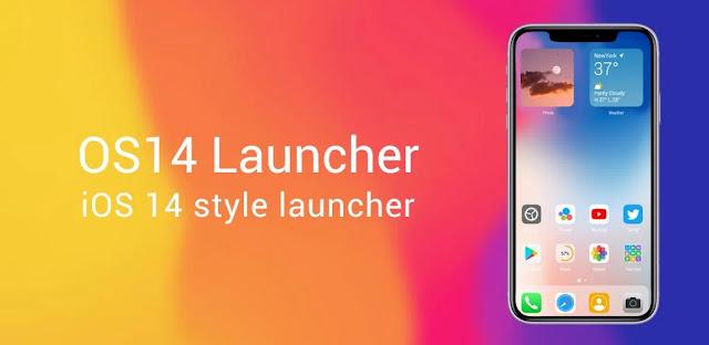 OS14 Launcher ومركز التحكم ومكتبة التطبيقات ونظام التشغيل إنه اسم مشغل محاكي iOS 14 UI الذي طورته Model X Apps وتم نشره على Google Play.