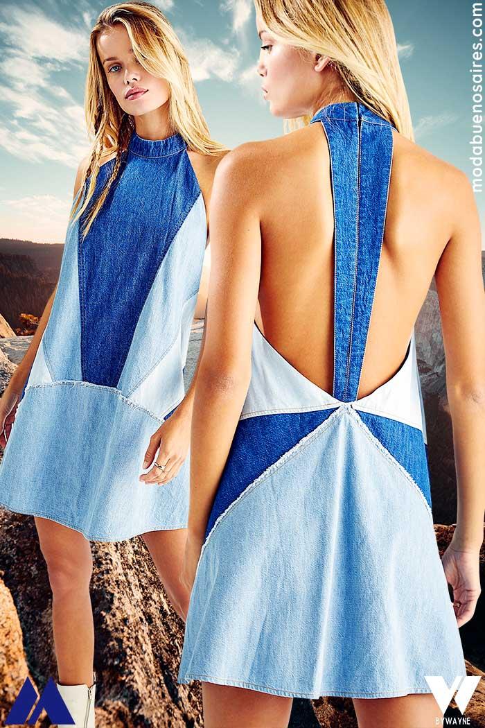 vestido corto de jean 2022