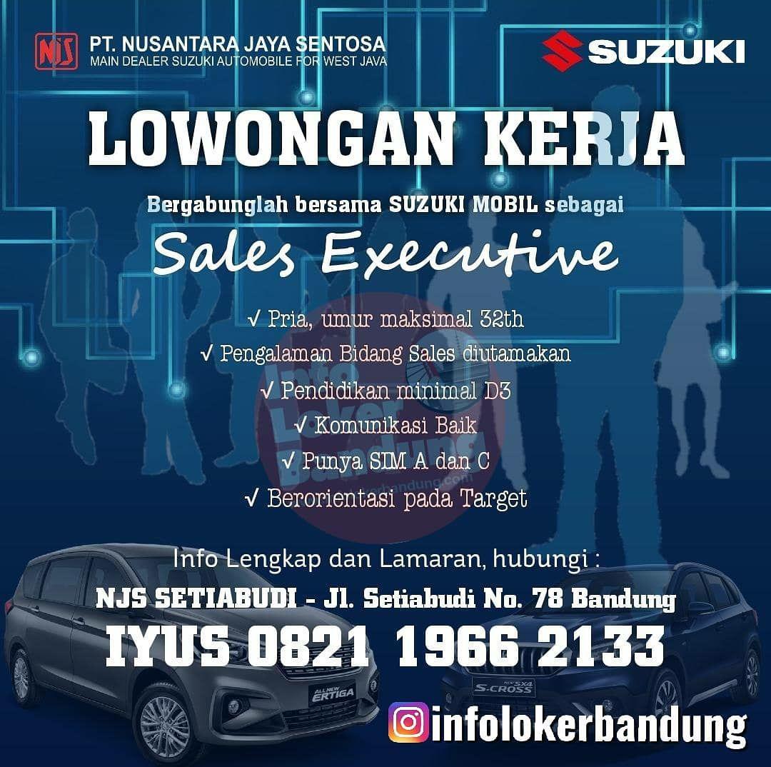 Lowongan Kerja PT. Nusantara Jaya Sentosa ( Suzuki Mobil ) Bandung Juni 2019