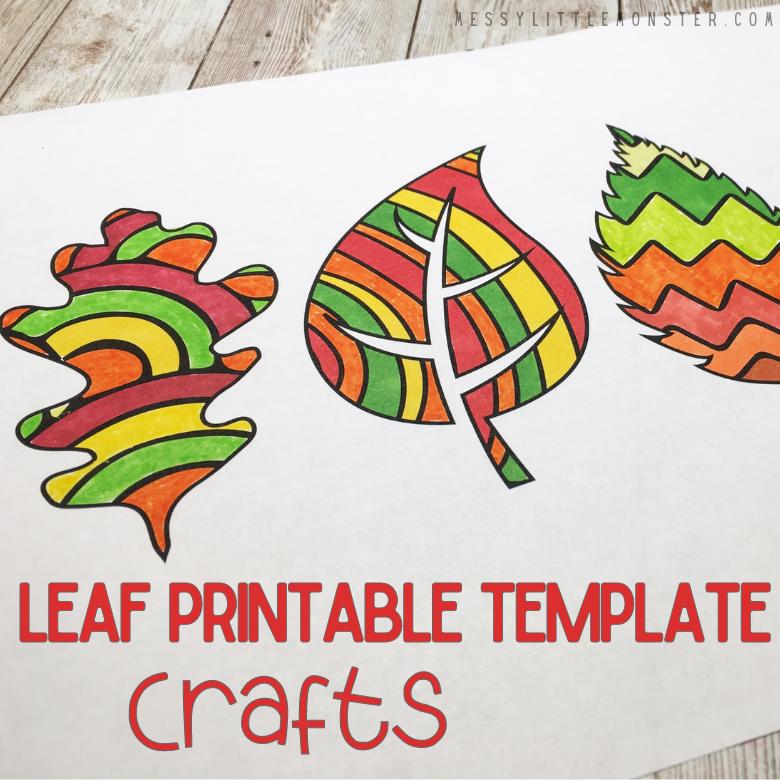 Leaf template craft