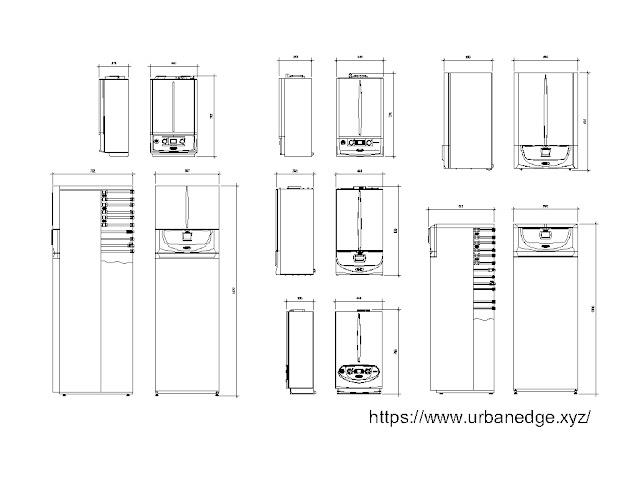 Gas boiler cad blocks download, 10+ Gas boiler dwg models
