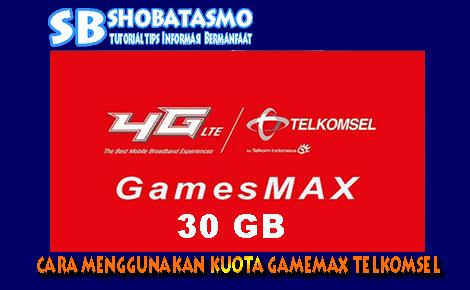cara menggunakan kuota gamemax telkomsel