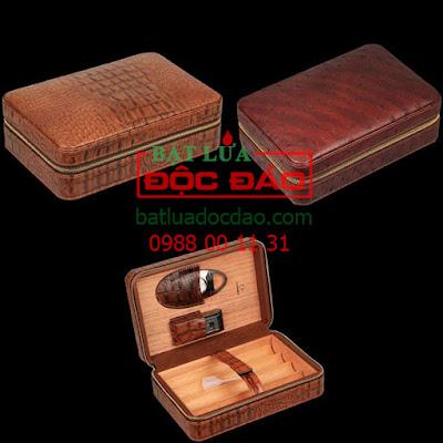 hop dung bat lua kho dao cat xi ga cohiba H519 - Ảnh 4 set hộp đựng xì gà, bật lửa khò xì gà, dao cắt xì gà Cohiba
