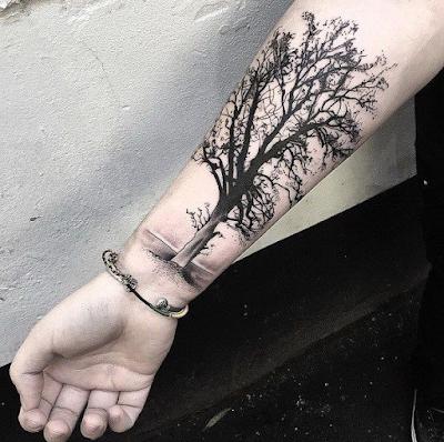 Tatuajes bonitos de árboles que atraen abundancia