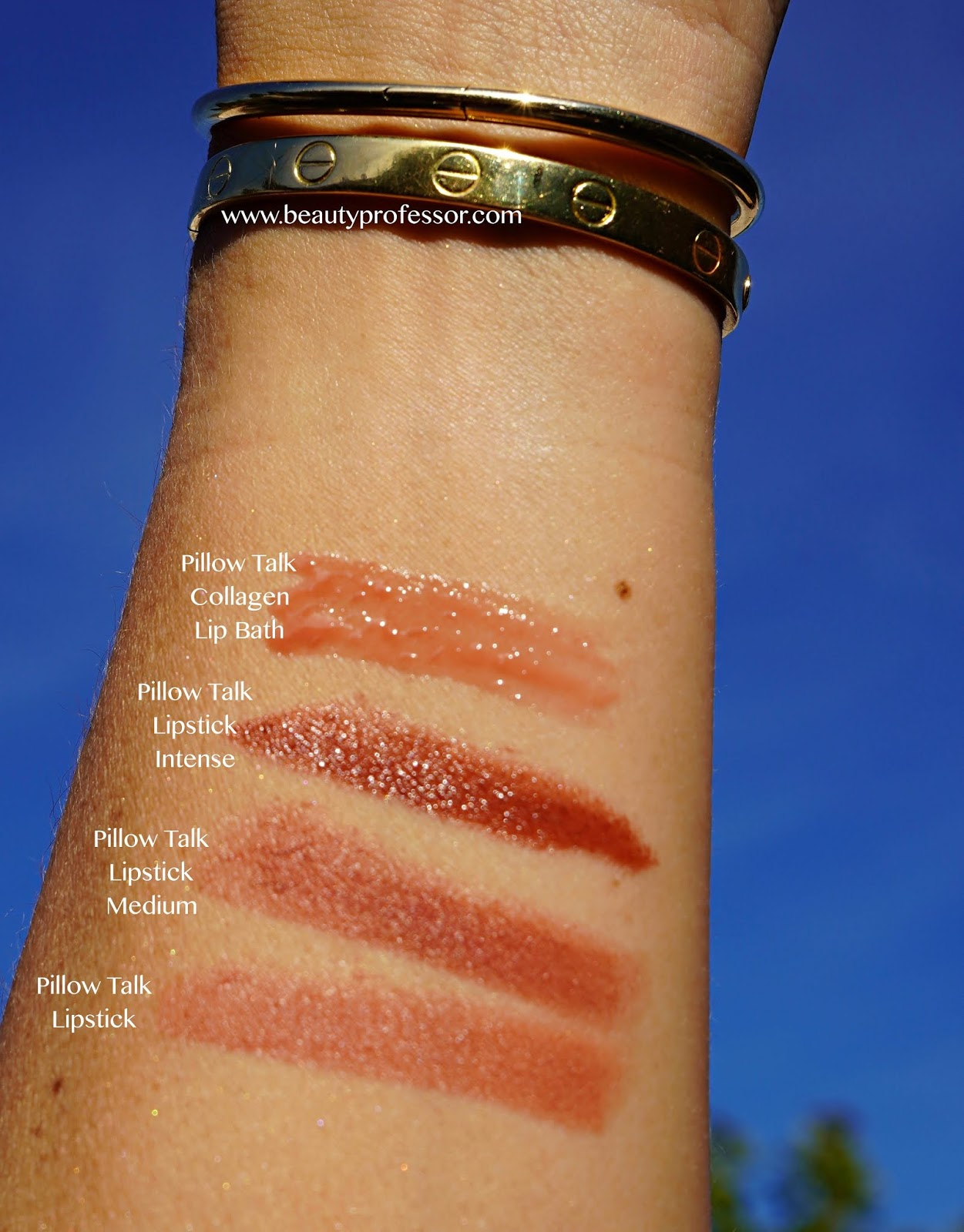 charlotte tilbury pillow talk medium swatches