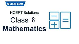 NCERT Solutions Class 8 Mathematics