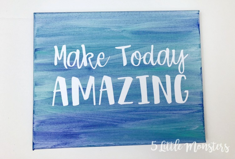 5 little monsters make today amazing watercolor canvas