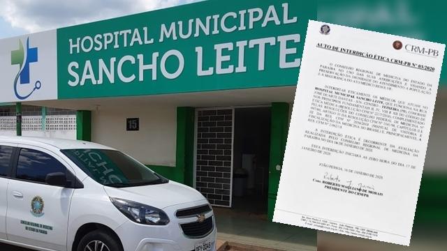Hospital de Teixeira PB, está interditados eticamente há dois meses