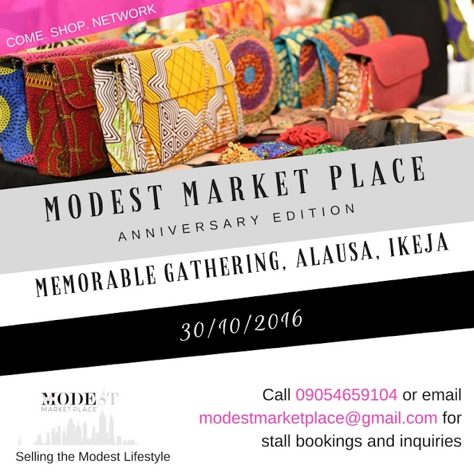 Upcoming Event: Modest Market Place (MMP) - Anniversary Edition