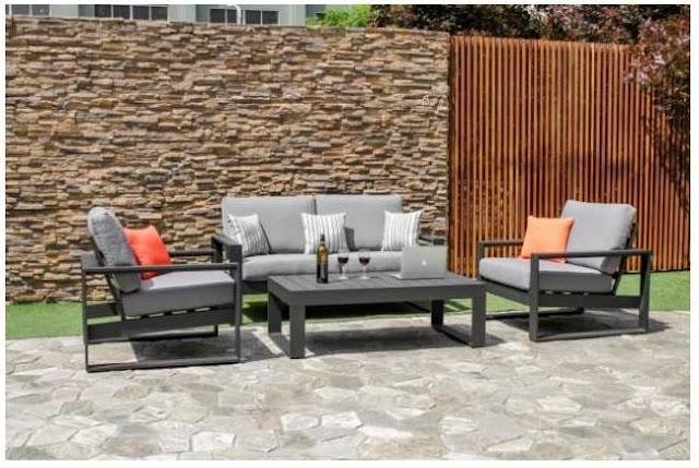 Amalfi Aluminium metal sofa