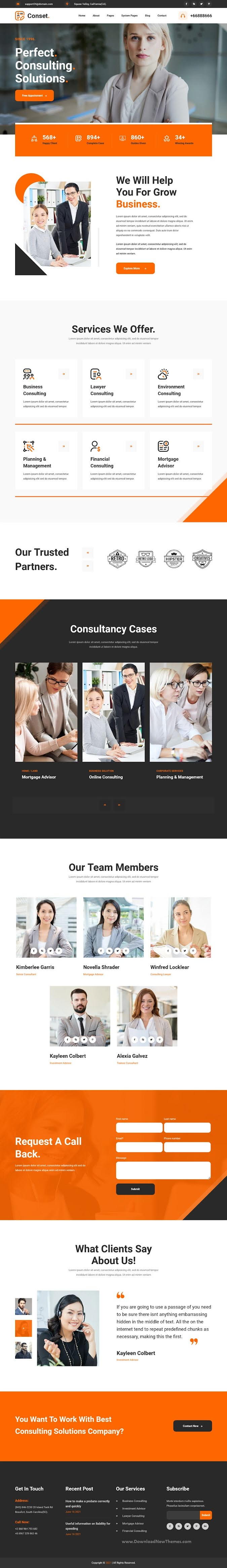 Conset - Business Consulting HubSpot Theme
