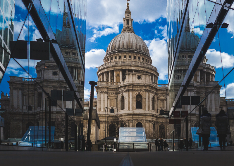 St. Paul's Cathedral in a post about saying goodbye to London.