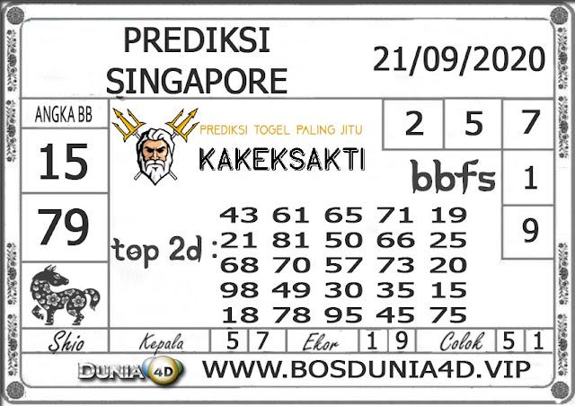 Prediksi Togel SINGAPORE DUNIA4D 21 SEPTEMBER 2020